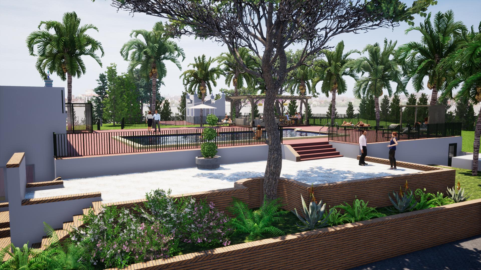 Animación 3d para visualización de reforma de villa en el Puerto