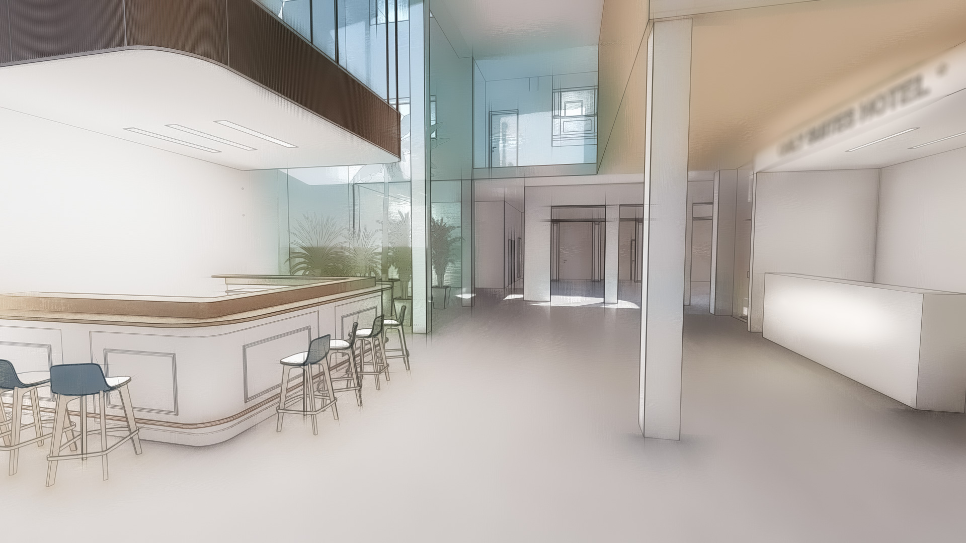 Anteproyecto de rehabilitación de edificio para hotel