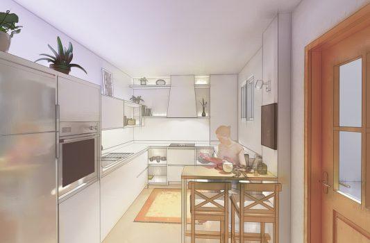 Diseño para rehabilitación de cocina en Jerez