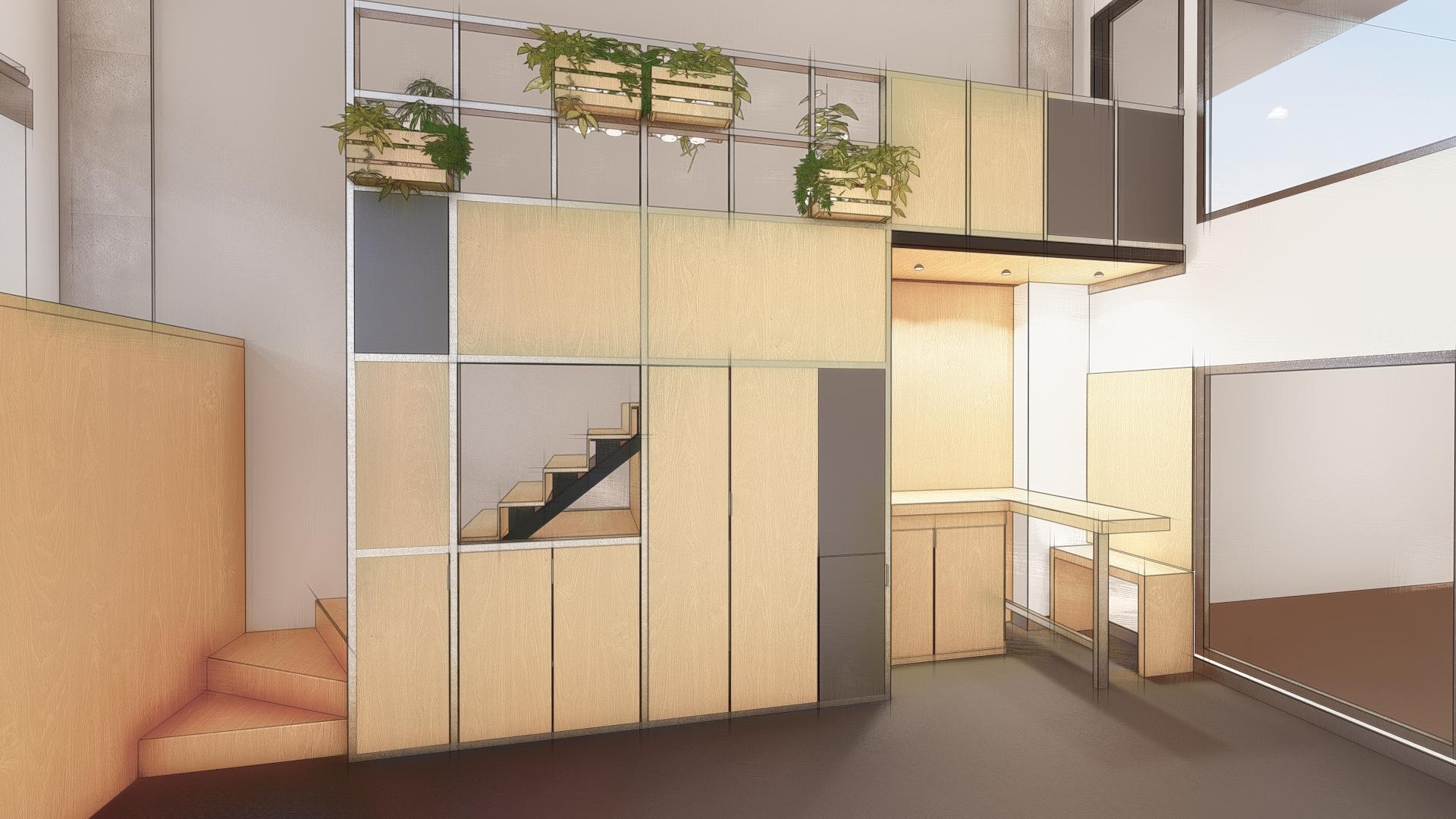 Diseño de mueble a medida para oficina en Jerez