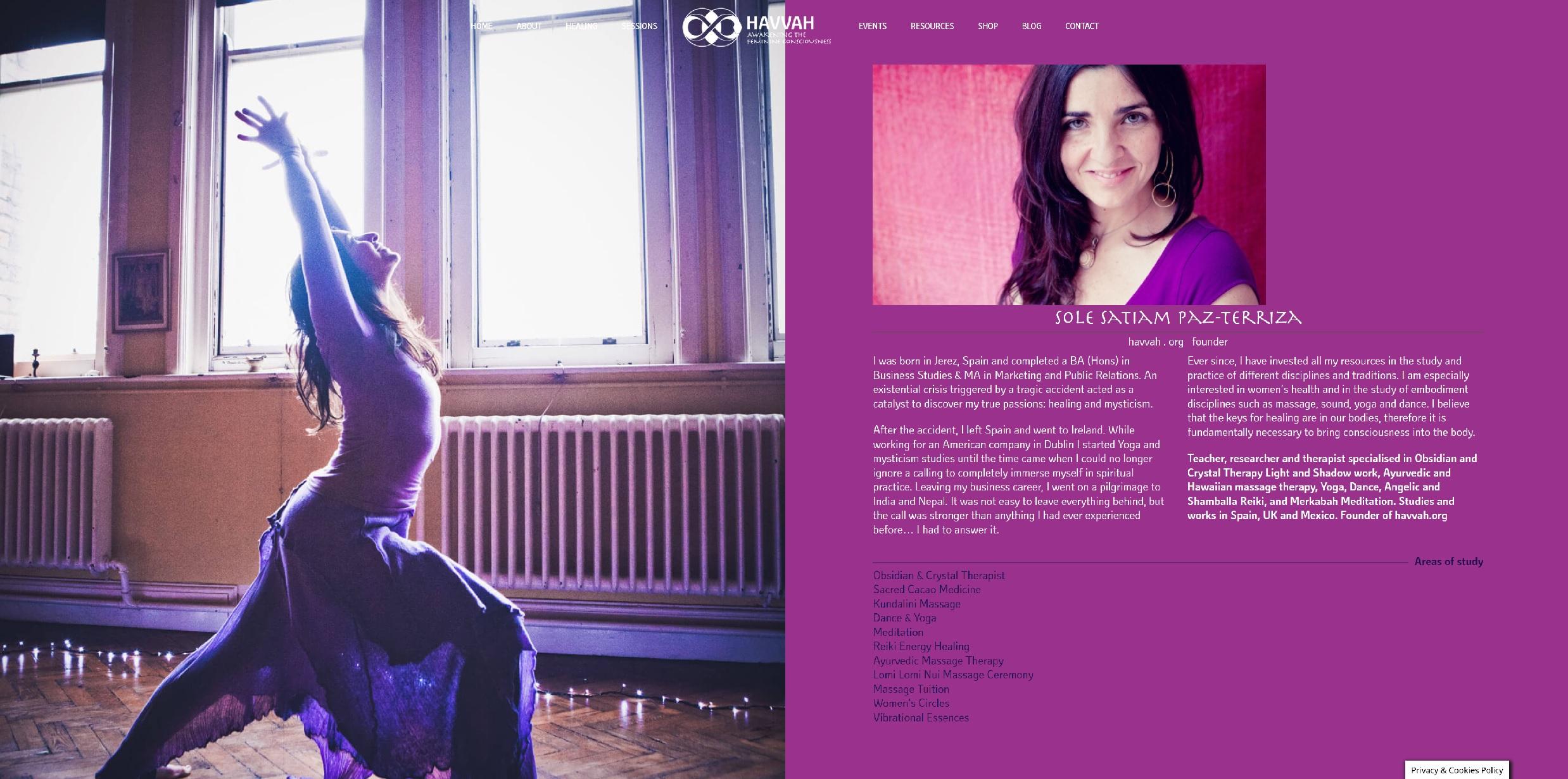 Diseño web para empresa  Havvah en Stroud Inglaterra, Reino Unido