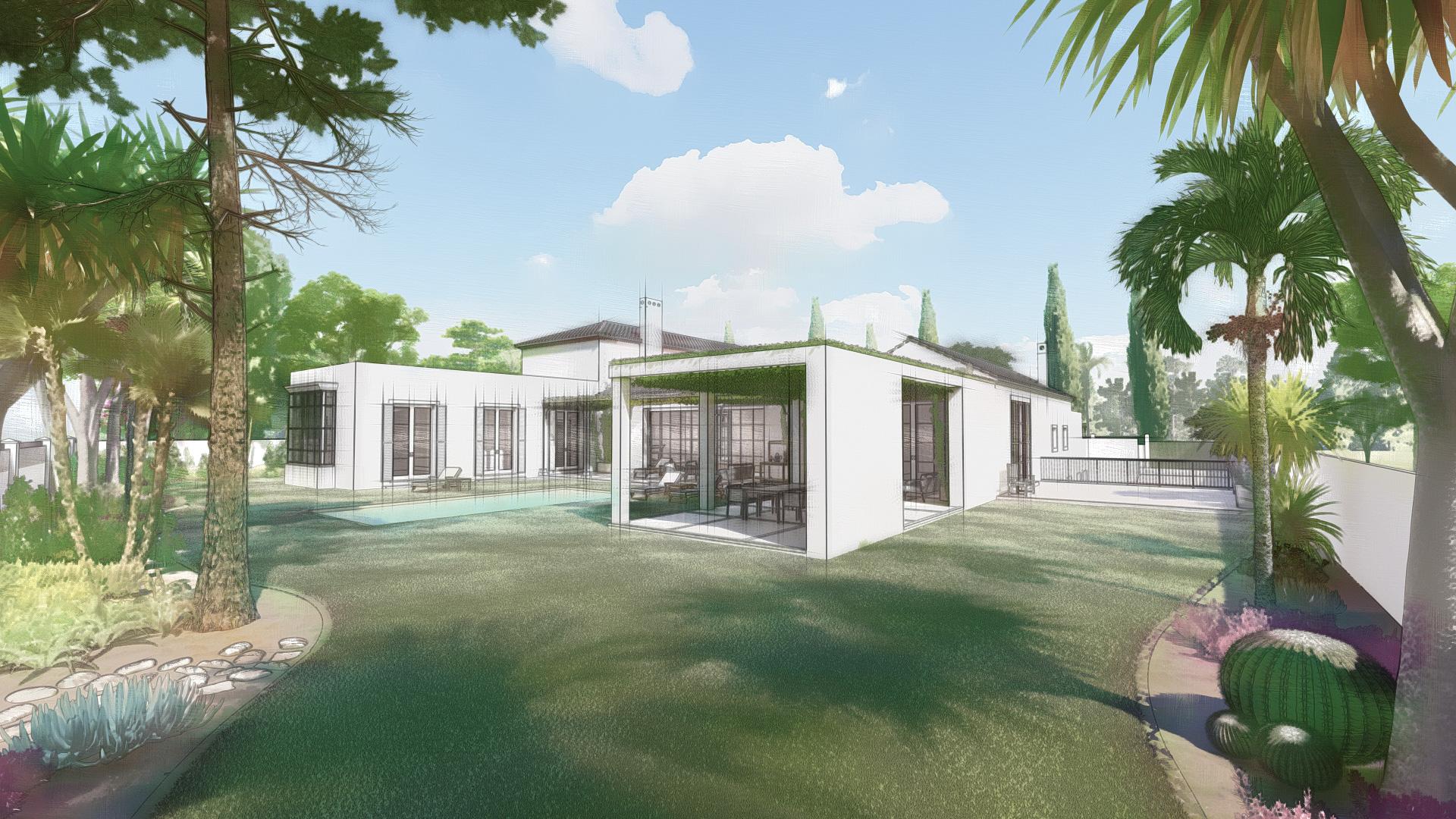 Diseño de interior y paisajismo para una villa