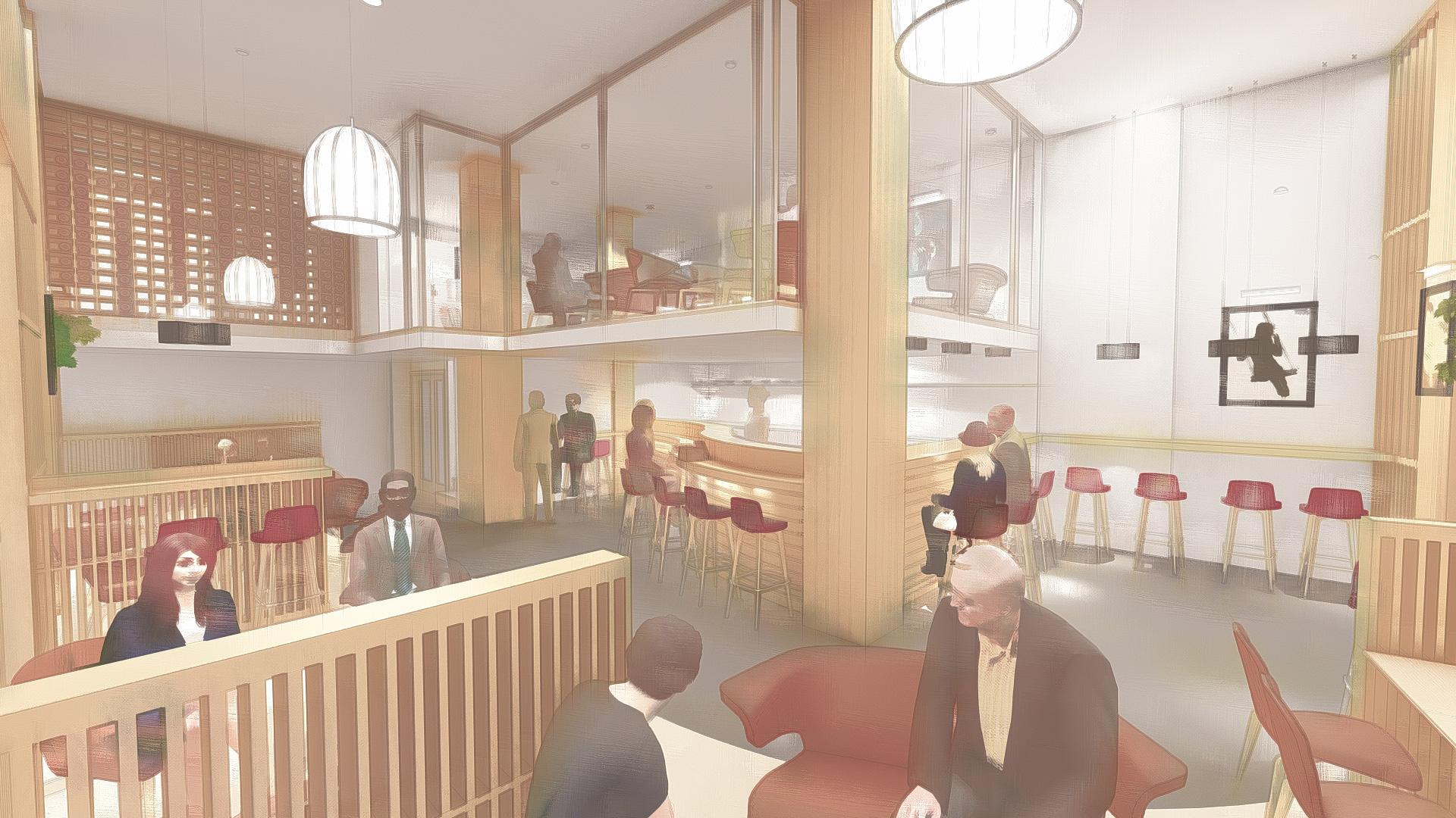 Diseño de interior para proyecto de bar en Jerez version 2