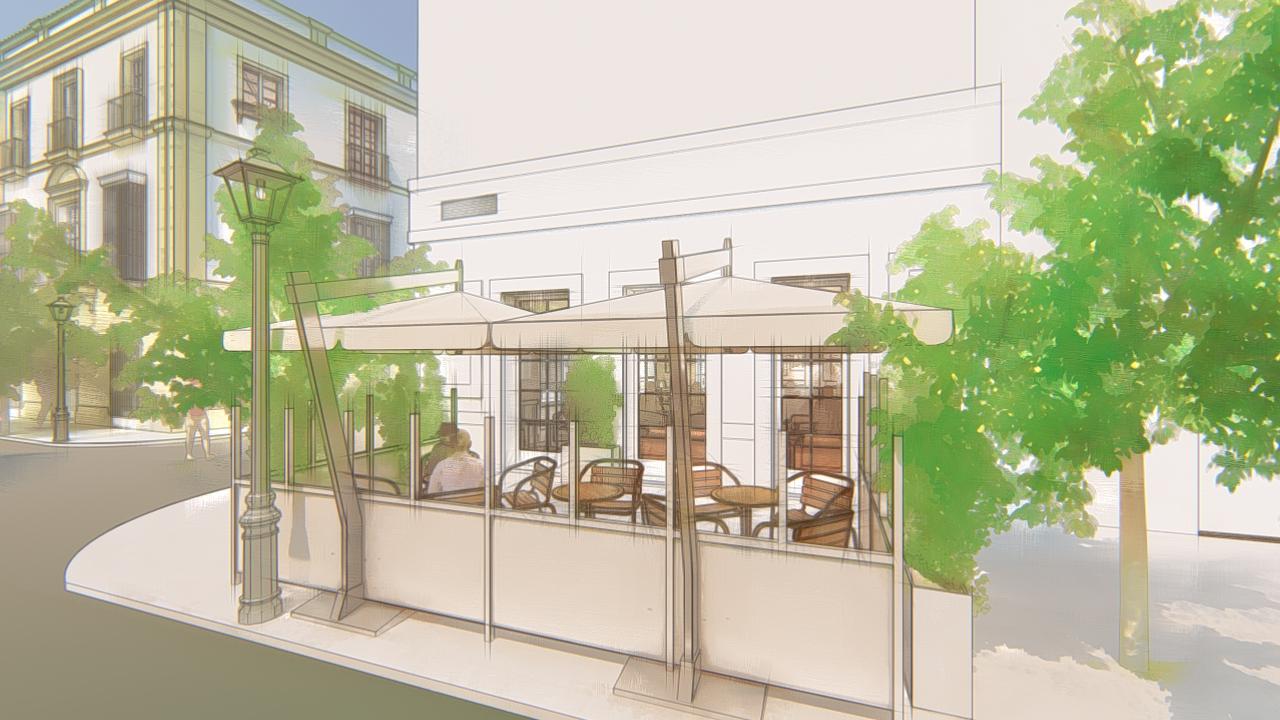 Diseño de interior para proyecto de bar en Jerez
