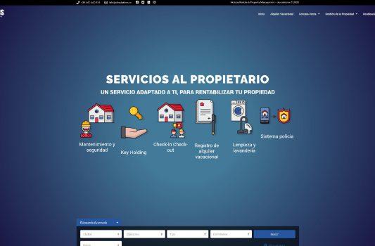 Diseño web para empresa  Ole Solutions en Jerez