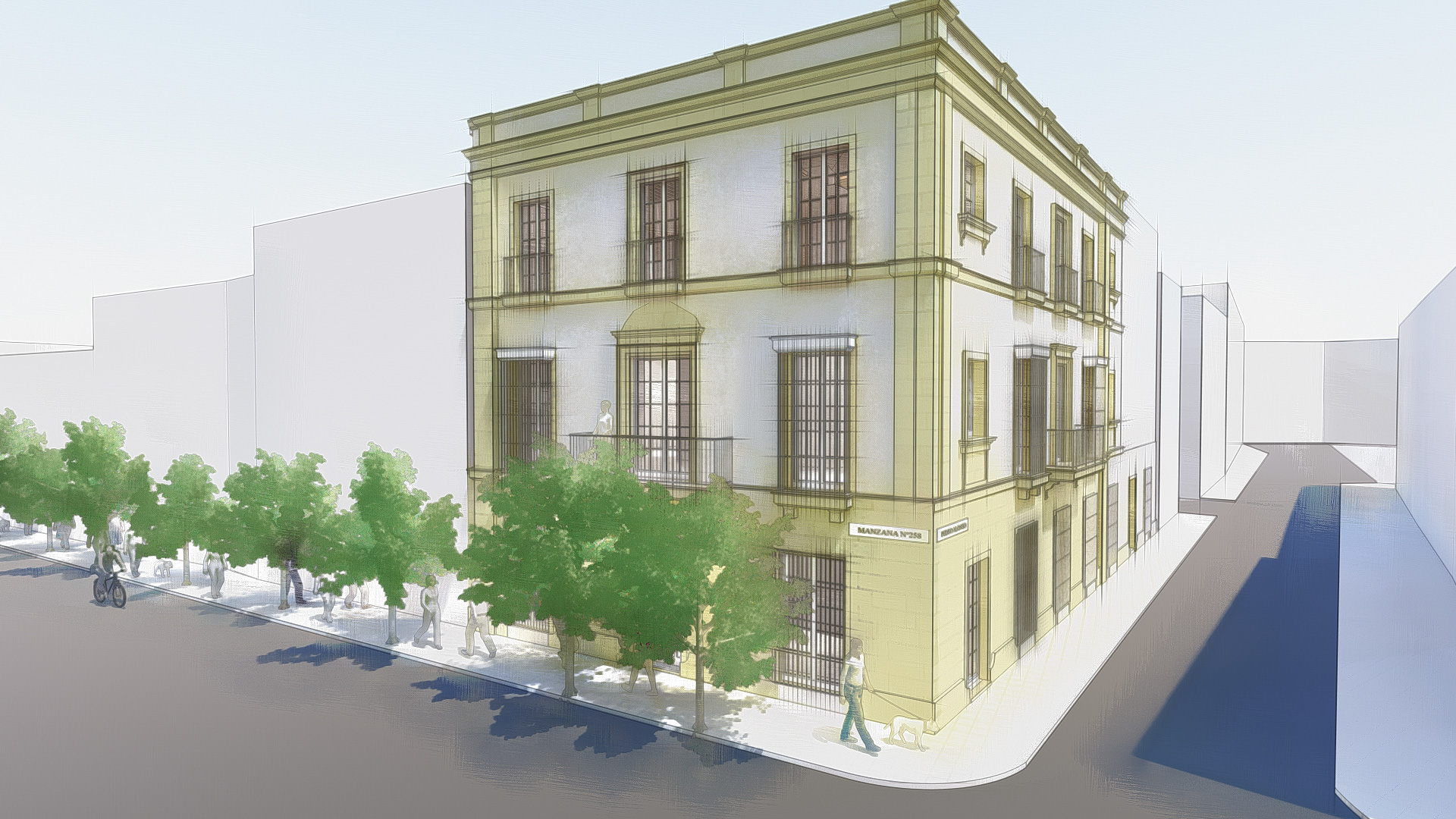 Proyecto básico rehabilitación de edificio en Jerez